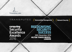 Nomination in Computing Security Excellence Awards 2016